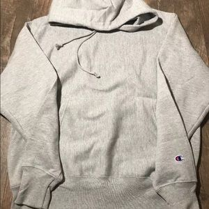 New Champion Reverse Weave Hoodie Black Sweatshirt Sleeve Icon Hood *X-LARGE* XL
